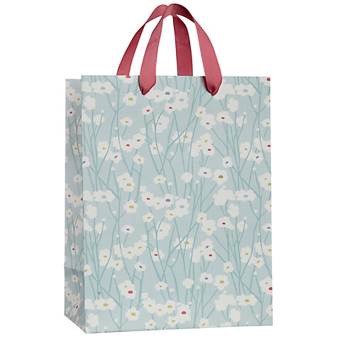 Buy John Lewis Blossom Gift Bag, Blue, Small Online at johnlewis.com