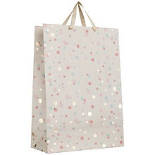 Buy John Lewis Confetti Gift Bag, White, Large Online at johnlewis.com