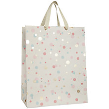 Buy John Lewis Confetti Gift Bag, White, Medium Online at johnlewis.com