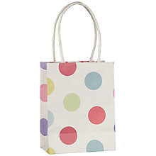 Buy John Lewis Pastel Spot Gift Bag, Multi, Mini Online at johnlewis.com
