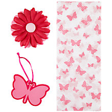 Buy John Lewis Butterfly Tissue Paper Set, Pink Online at johnlewis.com