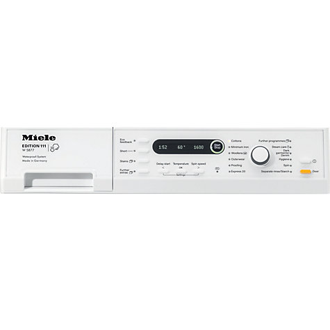 Buy Miele W5877 Edition 111 Washing Machine, 8kg Load, A+++ Energy Rating, 1600rpm Spin, White Online at johnlewis.com