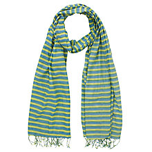 Buy John Lewis Printed Stripe Cotton Scarf Online at johnlewis.com