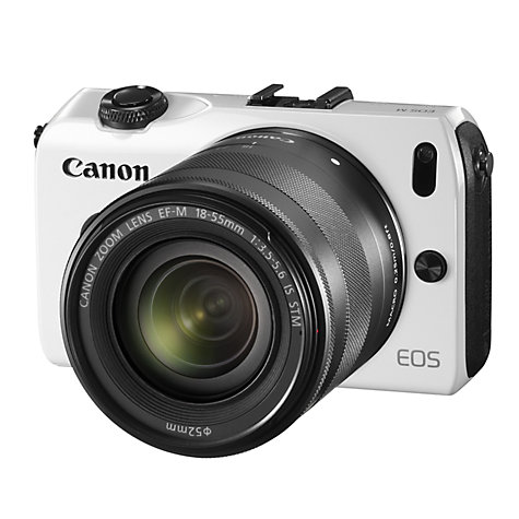 Buy Canon EOS M Compact System Camera with 18-55mm EF-M Lens, HD 1080p, 18MP, 3