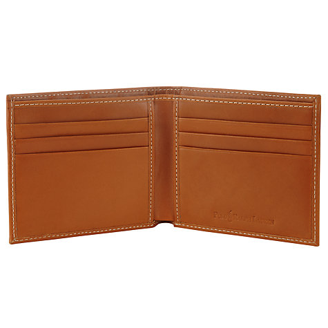Buy Polo Ralph Lauren Leather Bi-Fold Wallet, Brown Online at johnlewis.com