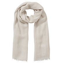 Buy John Lewis Shimmer Wrap Scarf, Cream Online at johnlewis.com