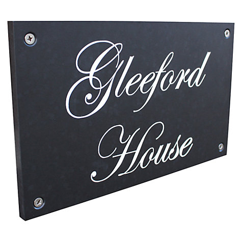 Buy ashortwalk Recycled Personalised Door Sign, House Name 2 Lines Online at johnlewis.com