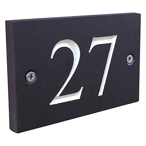 Buy ashortwalk Recycled Personalised Door Sign, House Number 1-99 Online at johnlewis.com
