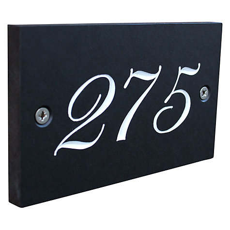 Buy ashortwalk Recycled Personalised Door Sign, House Number 100-999 Online at johnlewis.com