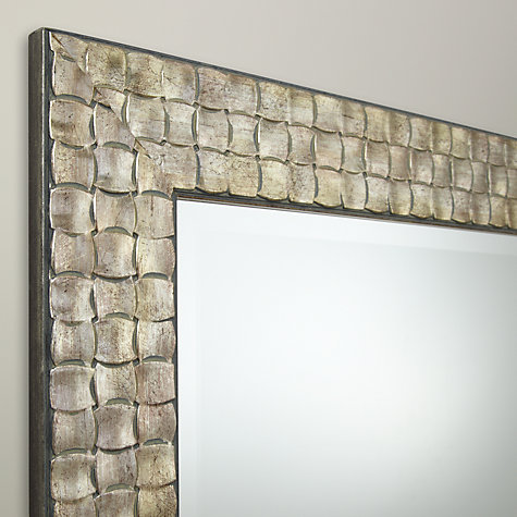 Buy Mosaic Silver Wall Mirror, 90 x 65cm Online at johnlewis.com