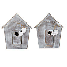 Buy John Lewis Wooden Bird House, Large, Assorted Online at johnlewis.com