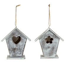 Buy John Lewis Wooden Bird House, Small, Assorted Online at johnlewis.com