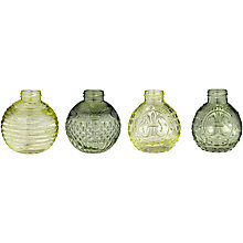 Buy John Lewis Bud Vases, Green, Assorted Online at johnlewis.com