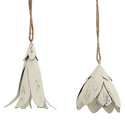 Buy John Lewis Hanging Flower, Cream, Assorted Online at johnlewis.com