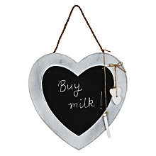 Buy John Lewis Heart Chalk Board, Dia.30cm Online at johnlewis.com
