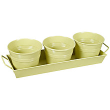 Buy John Lewis Margery Plant Pots and Tray Online at johnlewis.com
