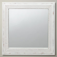 Buy John Lewis Beaded Square Mirror, 40 x 40cm Online at johnlewis.com