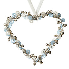 Buy Parlane Bell and Button Hanging Heart, Medium, Blue Online at johnlewis.com