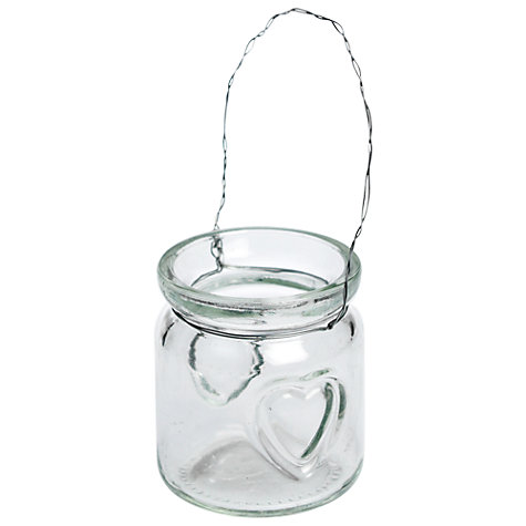 Buy Hanging Mini Heart Jam Jar Online at johnlewis.com