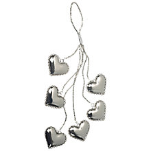 Buy Parlane Heart Cluster, Silver Online at johnlewis.com