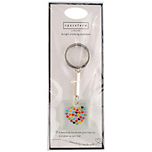 Buy Spaceform Lots Of Hearts Square Keyring, Multi Online at johnlewis.com