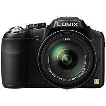 "Buy Panasonic Lumix DMC-FZ200 Bridge Camera, HD 1080p, 12.1MP, 24x Optical Zoom, 3"" LCD Flip Screen, Black with 16GB + 8GB Memory Card Online at johnlewis.com"