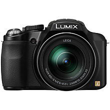 "Buy Panasonic Lumix DMC-FZ62 Bridge Camera, HD 1080p, 16.1MP, 24x Optical Zoom, 3"" LCD Screen, Black Online at johnlewis.com"