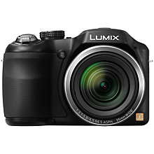 "Buy Panasonic Lumix DMC-LZ20E-K Bridge Camera, HD 720p, 16.1MP, 21x Optical Zoom, 3"" LCD Screen, Black Online at johnlewis.com"