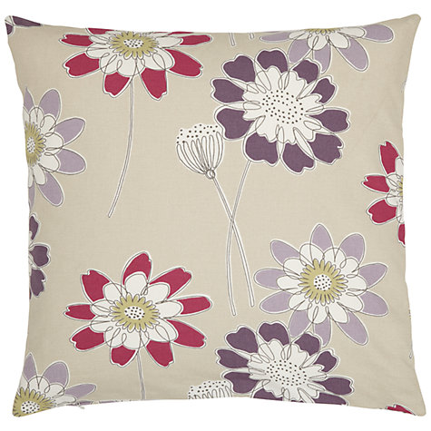 Buy John Lewis Tilda Cushion Cover, Putty/Magenta Online at johnlewis.com