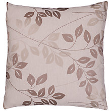 Buy John Lewis Shadow Leaf Cushion Cover, Natural Multi Online at johnlewis.com