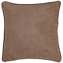 Buy John Lewis Chenille Cushion Cover, Mocha Online at johnlewis.com
