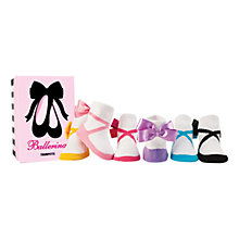 Buy Trumpette Ballerina Socks, Pack of 6, Multi Online at johnlewis.com