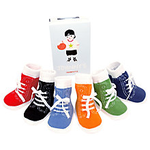 Buy Trumpette Johnny's Socks, Pack of 6, Multi Online at johnlewis.com