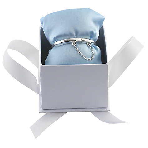 Buy Nina B Sterling Silver Hinged Baby Bangle Online at johnlewis.com