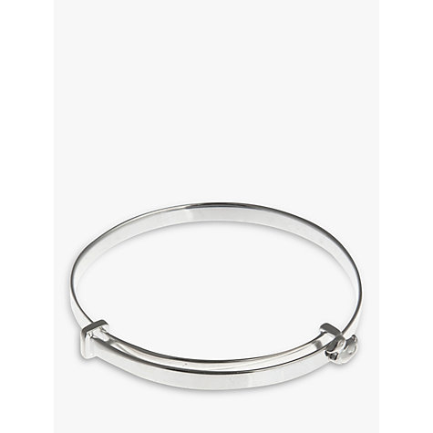 Buy Nina Breddal Sterling Silver Bangle Baby Bangle with Duck Online at johnlewis.com