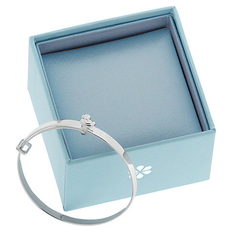 Buy Nina B Sterling Silver Duck Detail Baby Bangle Online at johnlewis.com