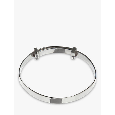 Buy Nina Breddal Sterling Silver Expanding Baby Bangle, Silver Online at johnlewis.com