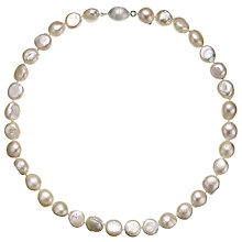 Buy A B Davis Baroque River Pearls Magnetic Clasp Necklace, Neutrals Online at johnlewis.com