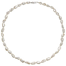 Buy A B Davis Keshi River Pearl Necklace, White Online at johnlewis.com