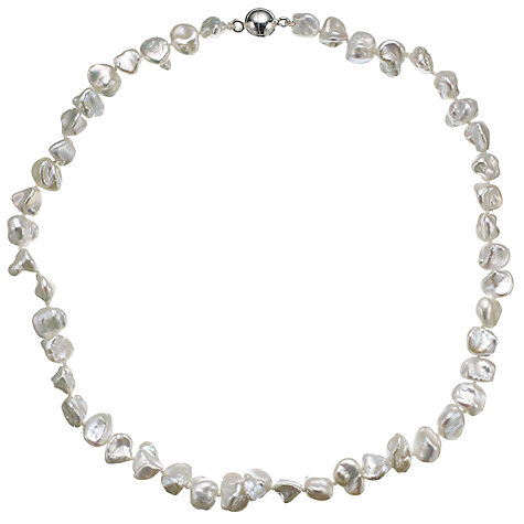 Buy A B Davis Keshi River Pearl Magnetic Clasp Necklace, White Online at johnlewis.com
