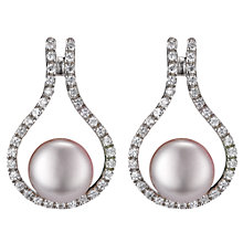 Buy A B Davis Sterling Silver Pearl Teardrop Earrings, White Online at johnlewis.com