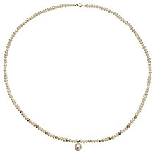 Buy A B Davis 9ct Gold and Freshwater Pearl Drop Necklace Online at johnlewis.com