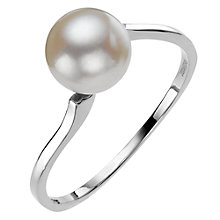 Buy A B Davis Slim Band Pearl Ring Online at johnlewis.com