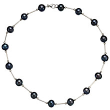 Buy A B Davis Sterling Silver Pearl Collar Necklace, Blueberry Online at johnlewis.com