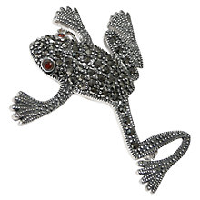 Buy Goldmajor Marcasite And Garnet Frog Brooch, Silver Online at johnlewis.com