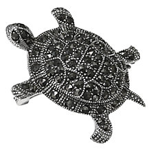 Buy Goldmajor Marcasite Tortoise Brooch, Silver Online at johnlewis.com