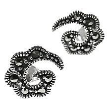 Buy Goldmajor Marcasite Paisley Stud Earrings, Silver Online at johnlewis.com