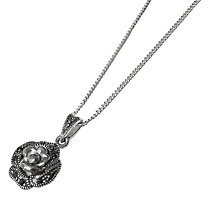 Buy Goldmajor Marcasite Rose Pendant Necklace, Silver Online at johnlewis.com