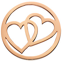 Buy Daisy Rose Gold Vermeil Double Heart Pendant Coin, Rose Gold Online at johnlewis.com