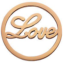 Buy Daisy Rose Gold Vermeil Love Pendant Coin, Rose Gold Online at johnlewis.com